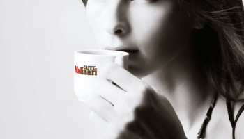 Lady Drinking Caffe Molinari Coffee 1