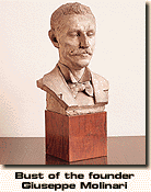 Bust Of The Founder Giuseppe Molinari